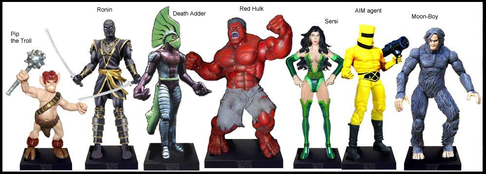 <b>Wave 38</b>: Pip the Troll, Ronin, Death Adder, Red Hulk, Sersi, AIM agent and Moon-Boy