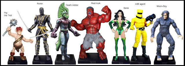 <b>Wave 38</b>: Pip the Troll, Ronin, Death Adder, Red Hulk, Sersi, AIM agent and Moon-Boy