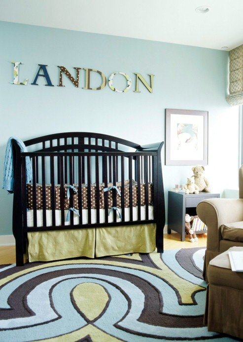 New home interior design decorating gallery nurseries - Room decoration for baby boy ...