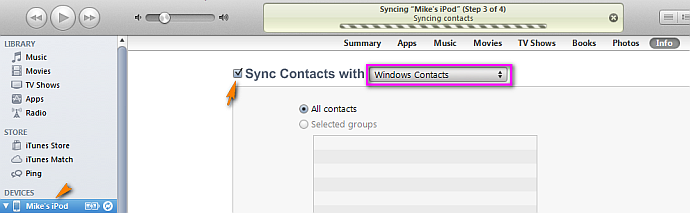 iphone importing contacts