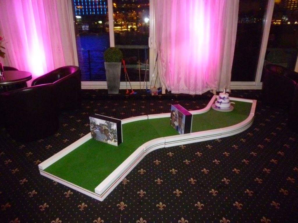 UrbanCrazy minigolf course at a wedding reception in London
