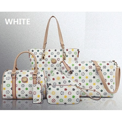 MULTI FUNCTION BAG (6 IN 1 SET) - WHITE