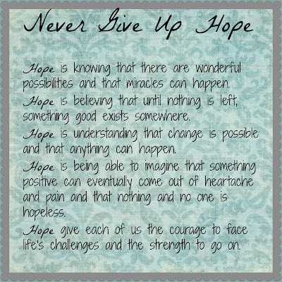 Never give up hope essay