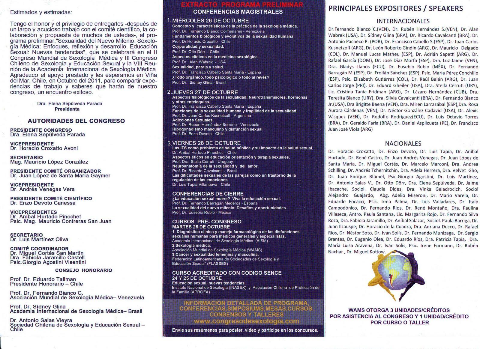 Sociedad Chilena de Sexología y Educación Sexual: 2011