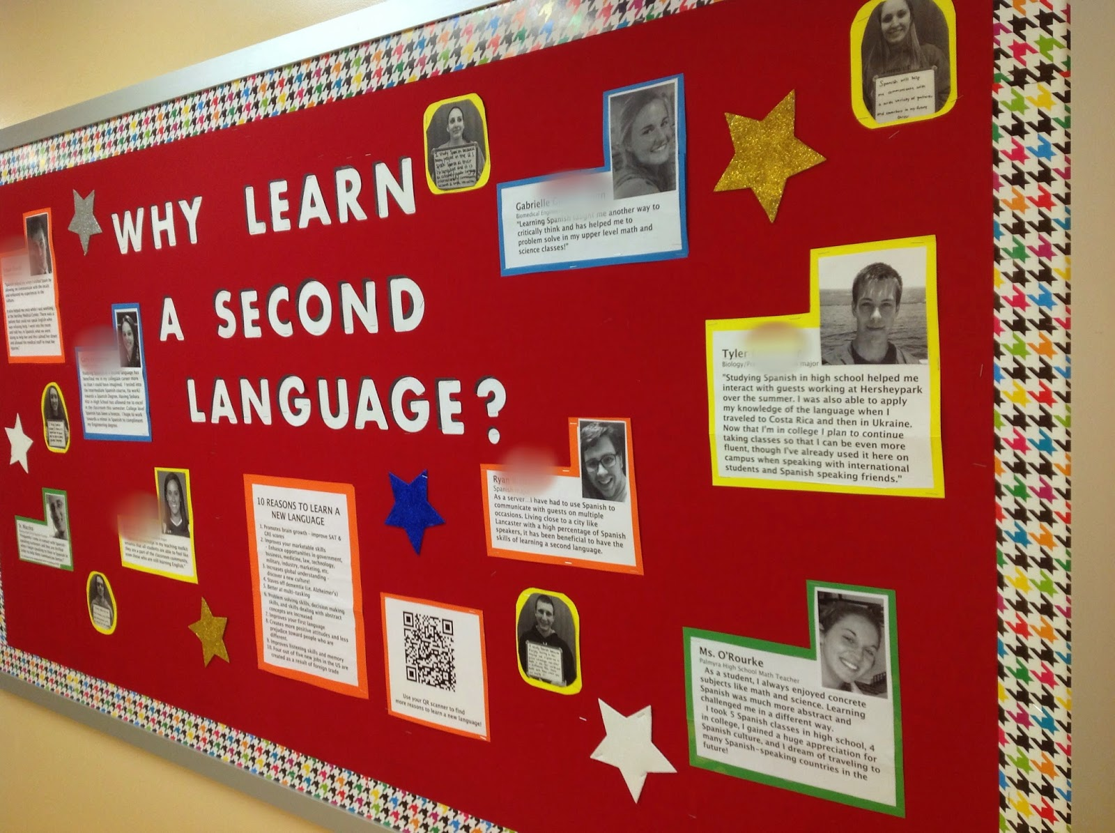 Foreign Language Classroom Decorations ~ Teaching spanish w comprehensible input bulletin board