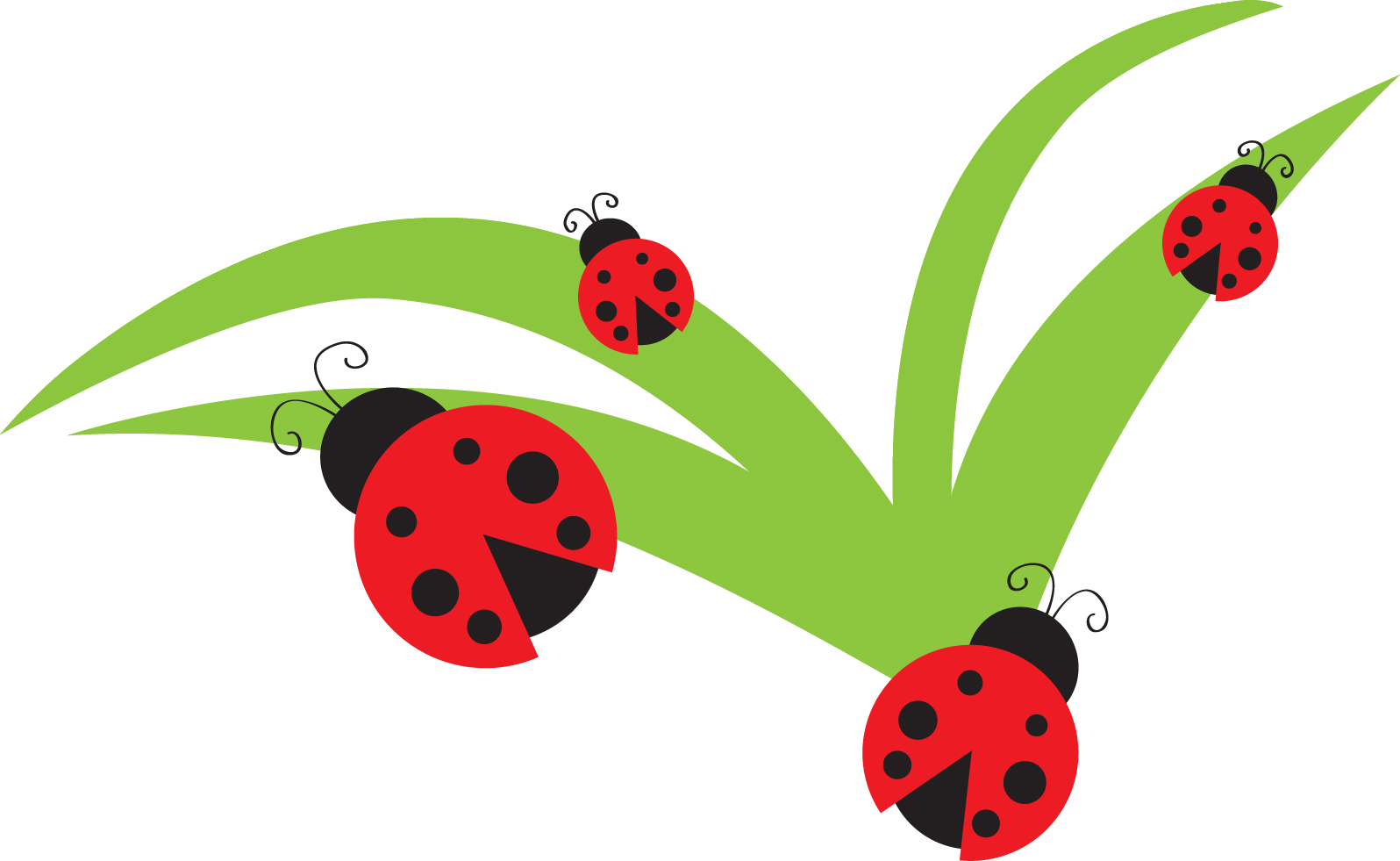 One Flower Clipart Lady Bug Clip Art - Bug Flower