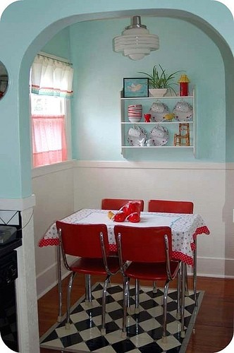 Sense and simplicity teal and red for Teal and red kitchen