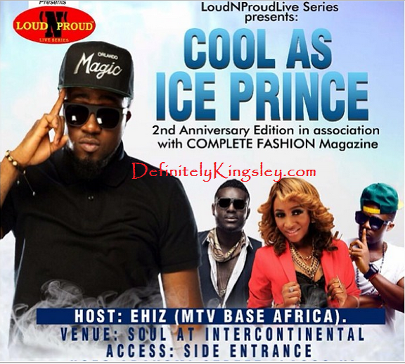 Ice Prince Embarasses Eva Alordiah at the Loud 'N' Proud Live Music Concert