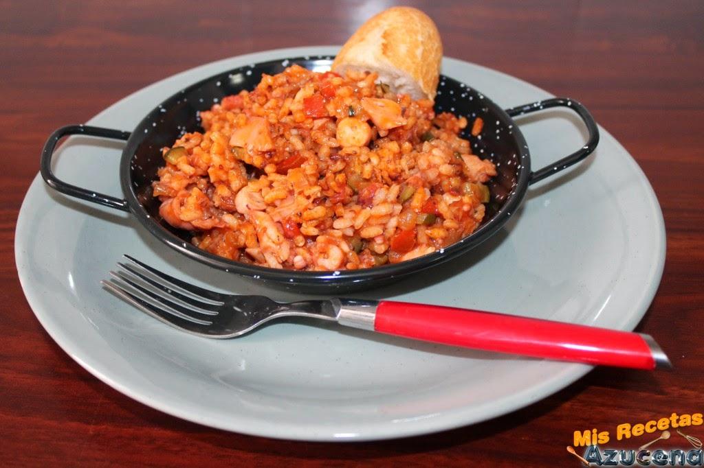 Mis recetas arroz con pulpo for Cocer pulpo congelado
