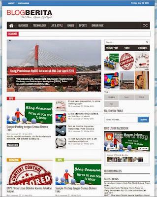 Blog Berita - Template SEO Fast Responsive untuk Situs Berita
