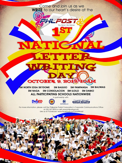 PhilPost 1st National Letter Writing Day poster