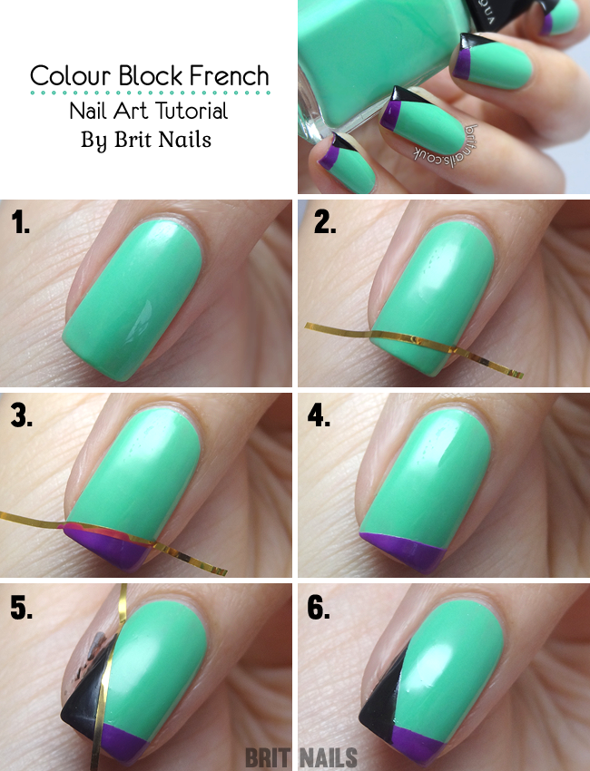 Tutorial: Colour Block French | Brit Nails