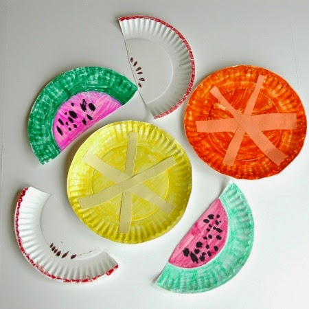 Paper Plate Fruit Salad. Fruit Theme- Weekly Home Preschool & Fruit Theme- Weekly Home Preschool | What Can We Do With Paper And Glue