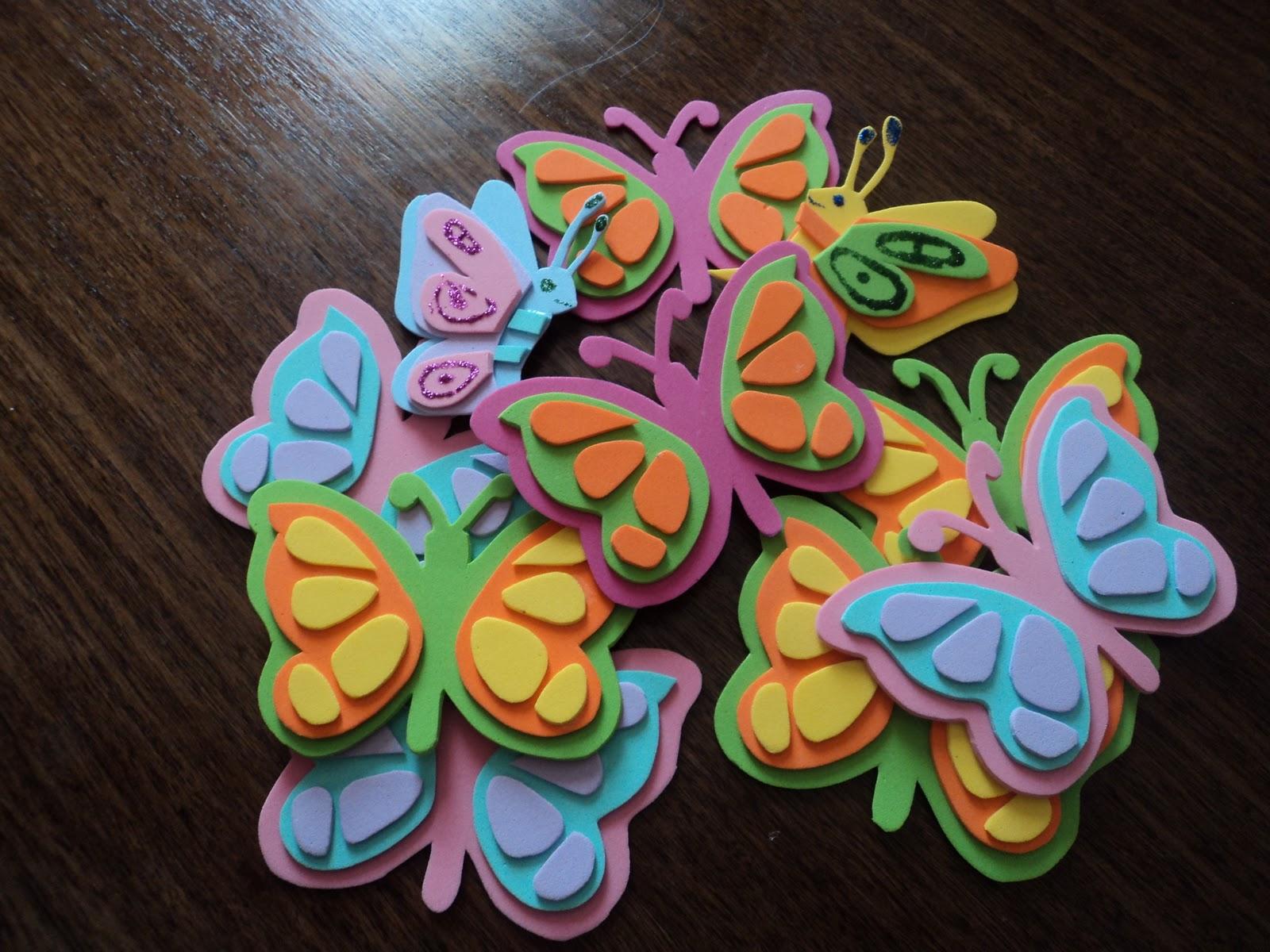 Manualidades de goma eva mariposas imagui - Como hacer mariposas de goma eva ...