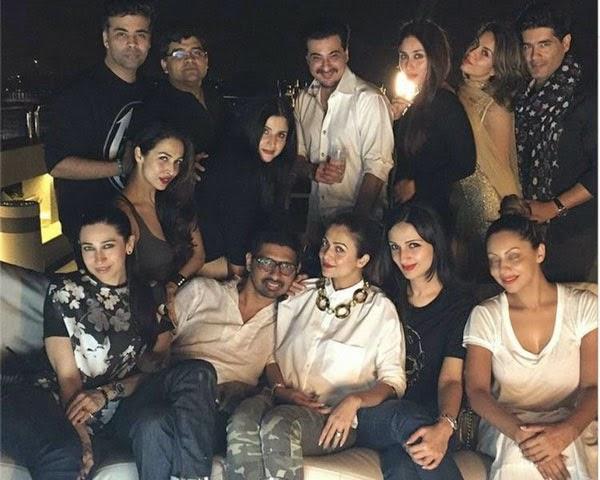 Kareena Kapoor, Karisma, Malaika Arora & Amrita Arora at Karan Johar's party