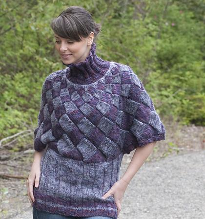 entrelac poncho knitting patterns