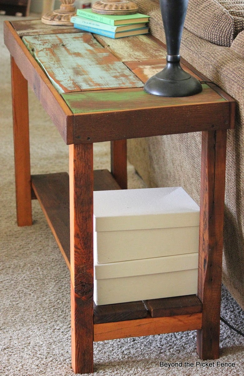 Beyond the picket fence ode to the sofa table for Sofa table tutorial