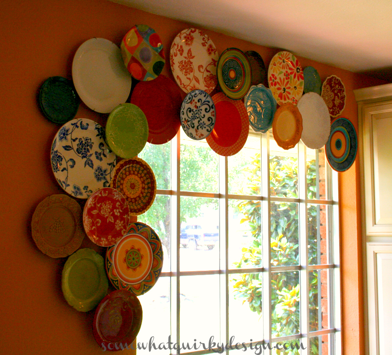 Somewhat Quirky How To Hang A Multi Level Plate Arrangement