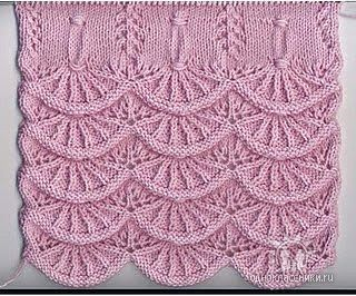 Scallop Knitting Pattern : Bubulinaaa : Alsacian scallops knit (counterpane) free pattern
