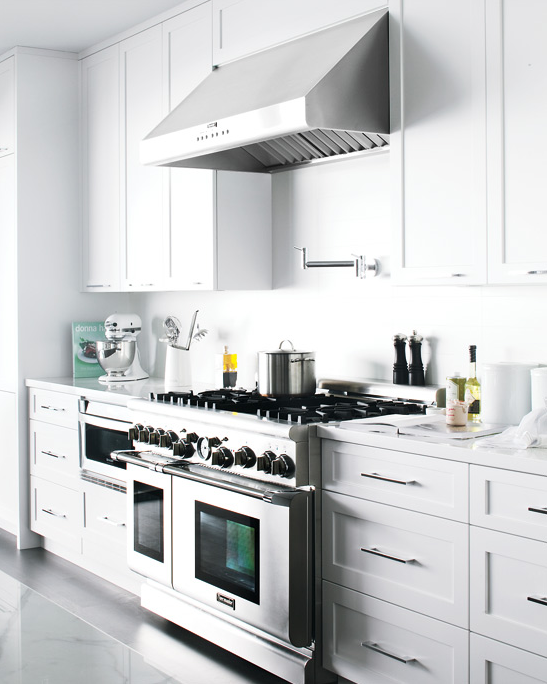 Stainless Steel Under-Cabinet Hood from Medley of Golden Days Blog