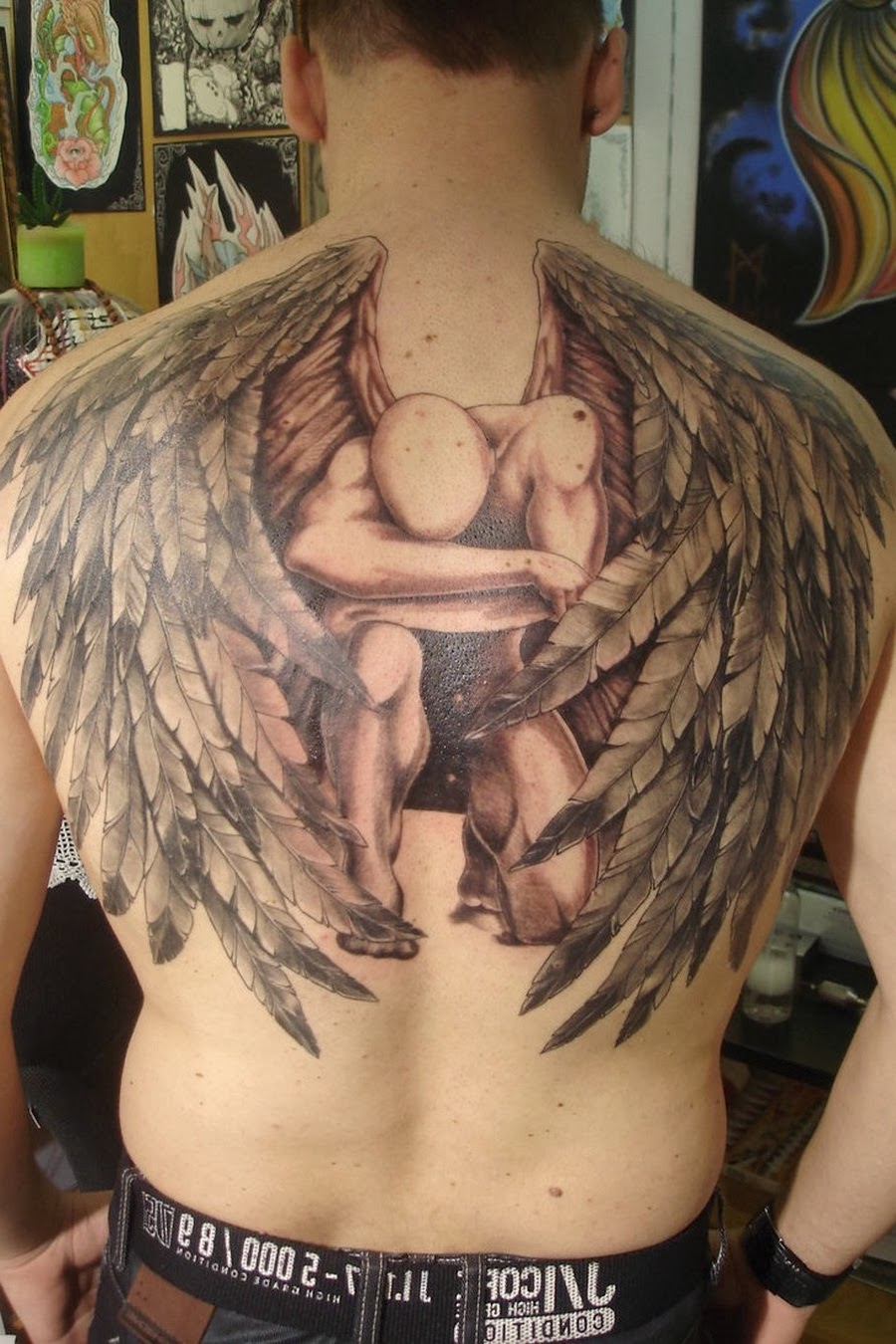angel tattoo designs for men