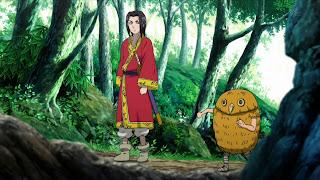 Screen z anime Kingdom na którym są król Ei Sei oraz Karyou Ten