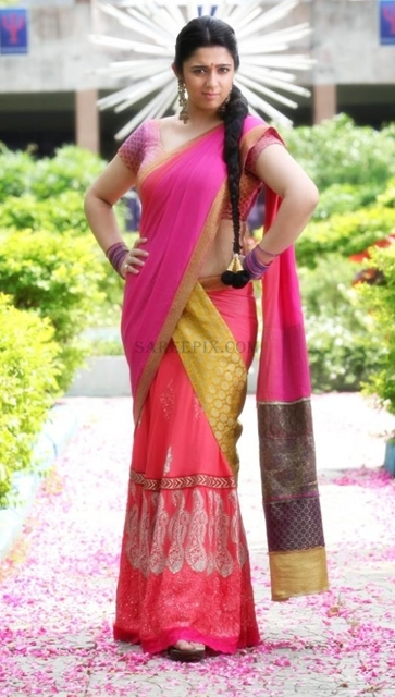 Charmi-kaur-half-saree-photoshoot