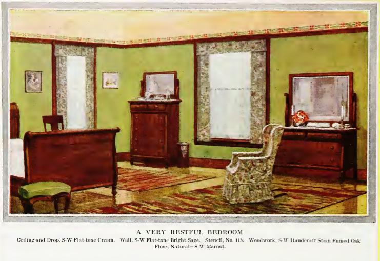 Laurelhurst craftsman bungalow matching historic stencils for Home decor 1910