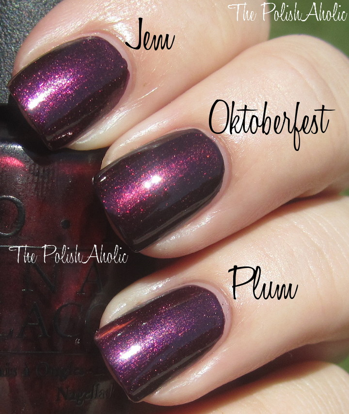 The PolishAholic: OPI Fall 2012 Germany Collection Comparisons!