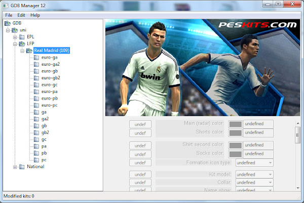 GDB Manager 12 For PES 2013 by Juce