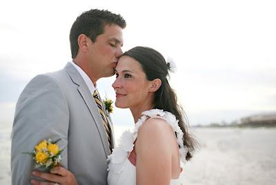 real beach wedding