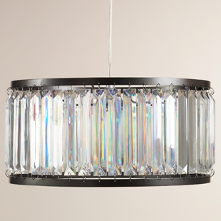 World Market Acrylic Drum Pendant Lamp