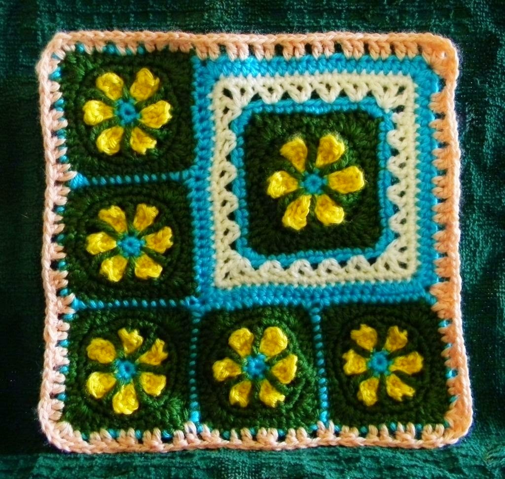 Free Crochet Pattern - Thoughts of Spring Granny Square