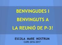 REUNIÓ AMB LES FAMÍLIES 2016