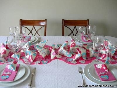 decoracion mesa 60 cumpleaños corazones origami