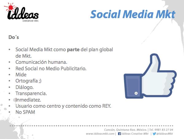 Lo que debes hacer social media marketing