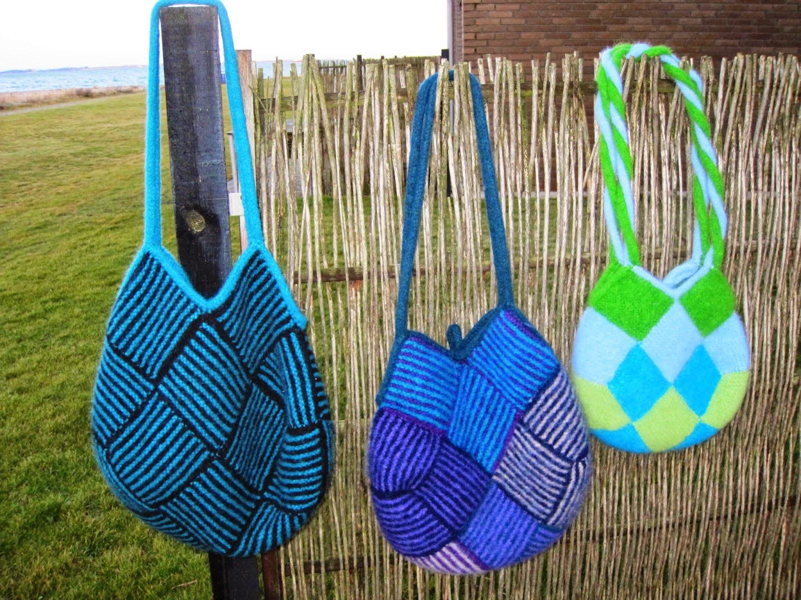 strikkede tasker opskrifter