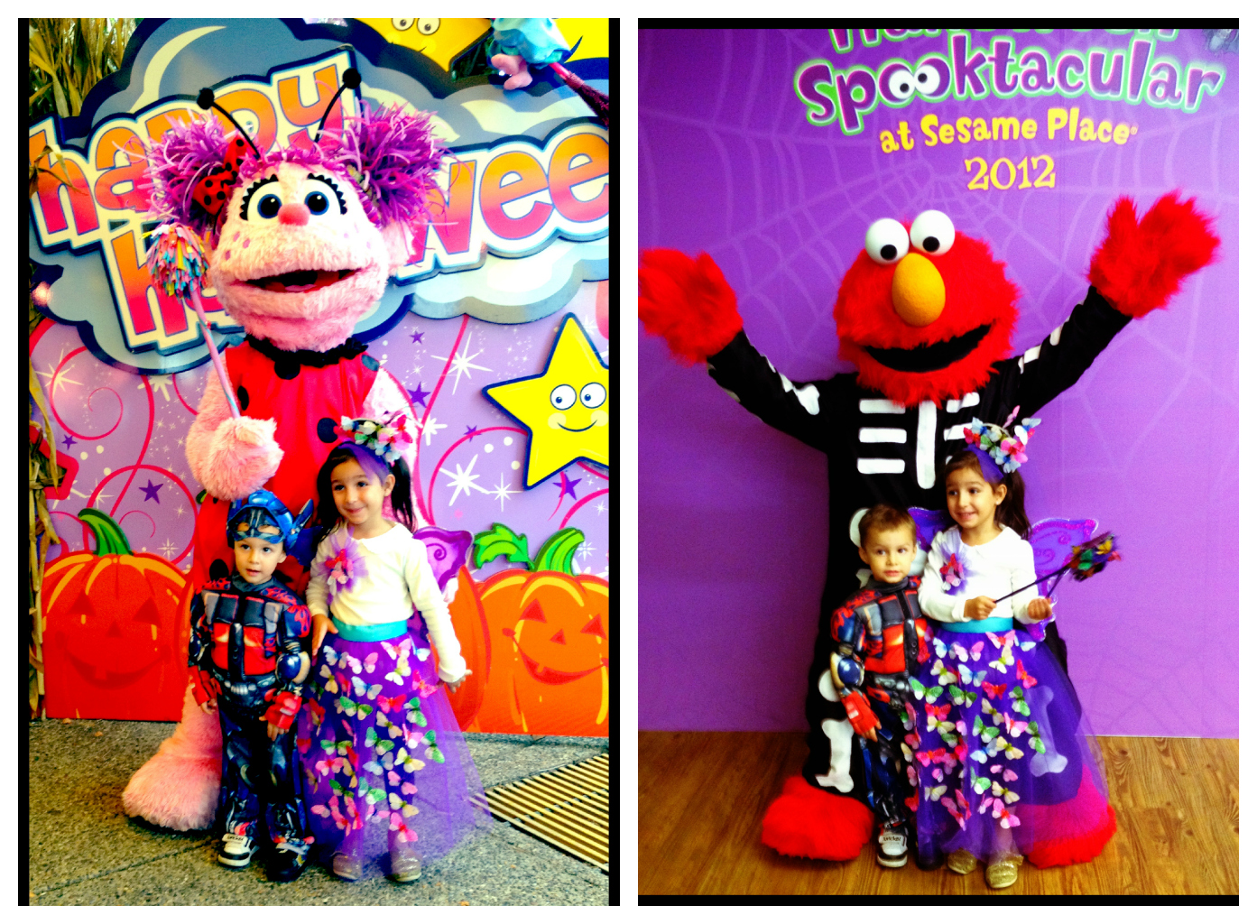 and costume clad characters had so much love to spread - Sesame Place Halloween