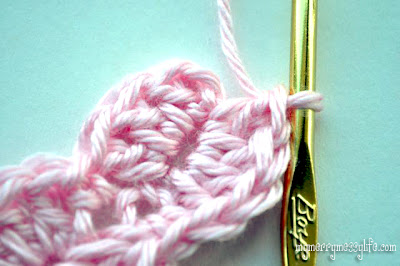 Photo Tutorial for the Crochet Shell Headband - Step 4