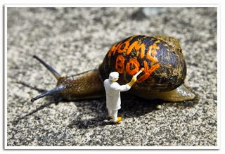 How did Sloan get their band name - Slinkachu graffiti snail