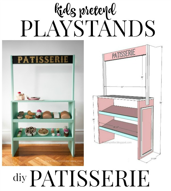 kids pretend playstands patisserie free plans