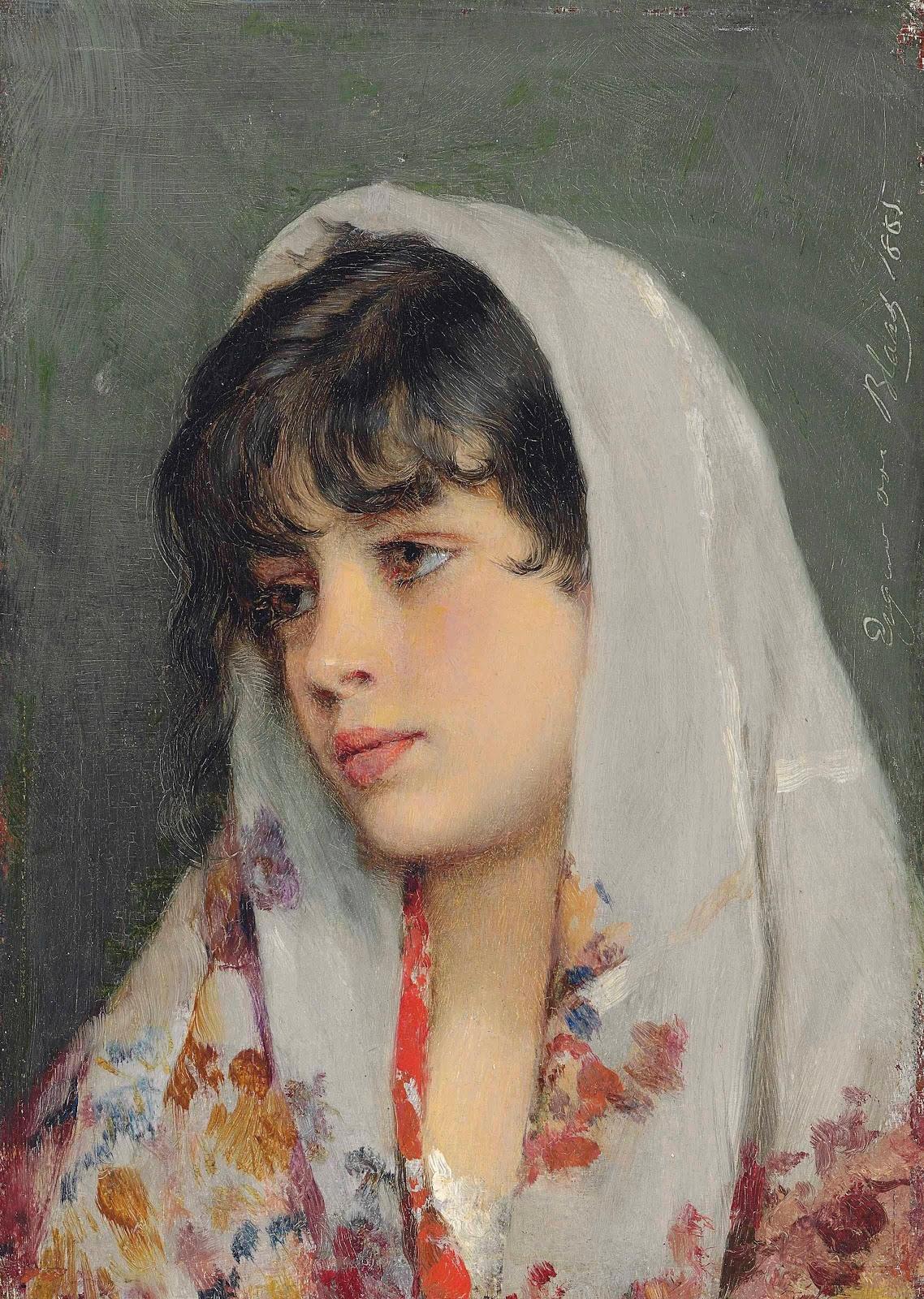 Eugene de  laas A Venetian beauty_