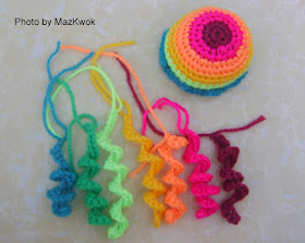 crochet cat toy jellyfish