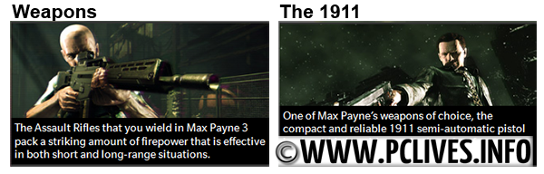 Max payne 3 Collector edition weapons feature full version download
