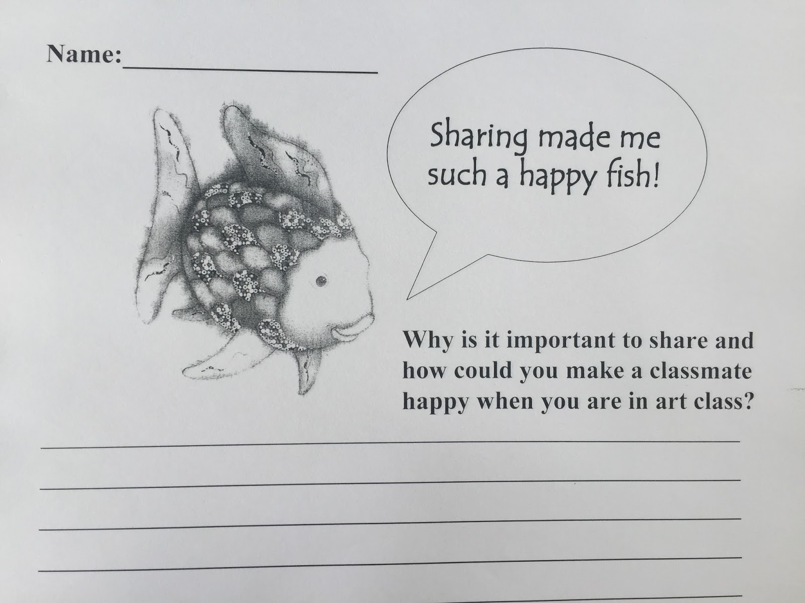 Uncategorized Rainbow Fish Worksheets the magnificent paintbrush rainbow fish 1st grade sorry about these images below i couldnt figure out how to rotate them but basically they are note cards that labeled with parts and