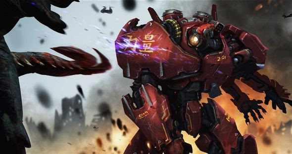 Hugo Martin illustrations conceptual arts movies games fantasy science fiction Pacific Rim conceptual arts - Crimson Typhoon