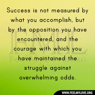 Success is not measured by what you accomplish