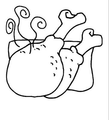 Piernas de pollo para colorear ~ 4 Dibujo