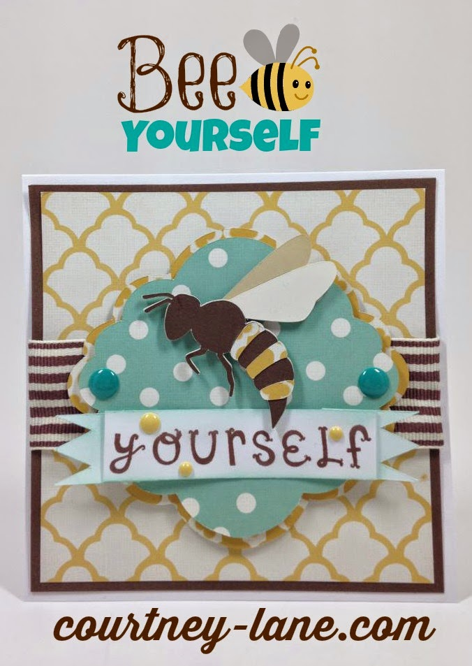 Cricut Artiste Bee Yourself card