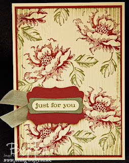 Stippled Blossom Card by Stampin' Up! Demonstrator Bekka Prideaux - check out her classes - you get to make cards like this one along with several others featuring the same stamp set.  Brilliant!